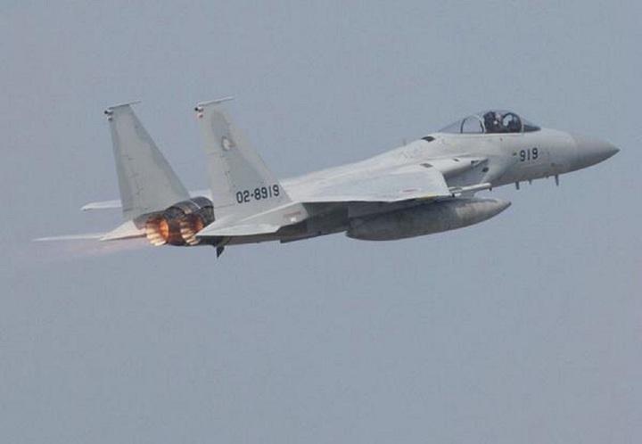 日本F-15J緊急升空。圖/視覺中國
