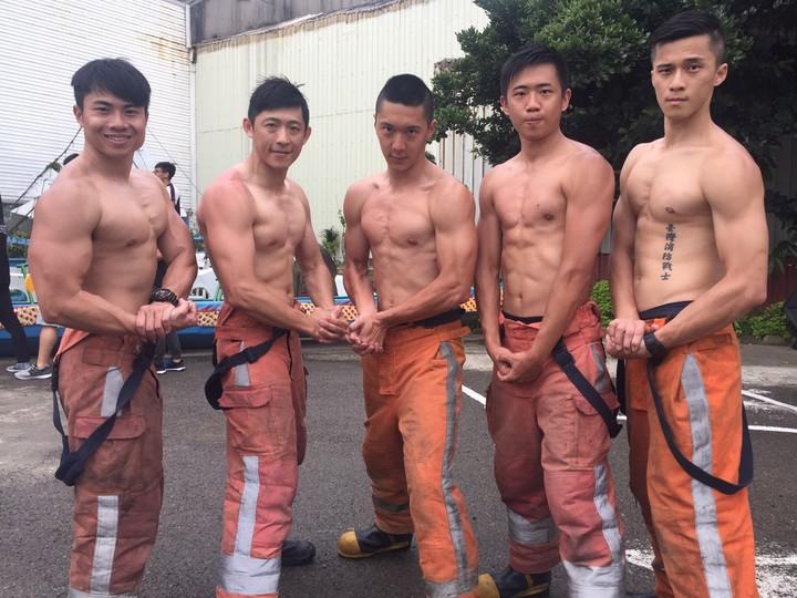 新竹市消防局,消防員各個精壯。記者郭宣&#24419/攝影