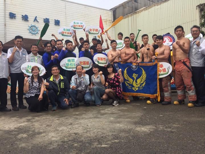 新竹市端午節龍舟賽將在5月30日於南寮舊港登場。記者郭宣&#24419/攝影