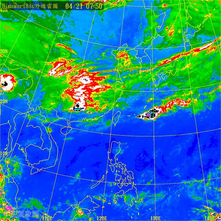 鋒面下午逐漸通過,今天下午到明天清晨將有較明顯雨勢。取自中央氣象局網站