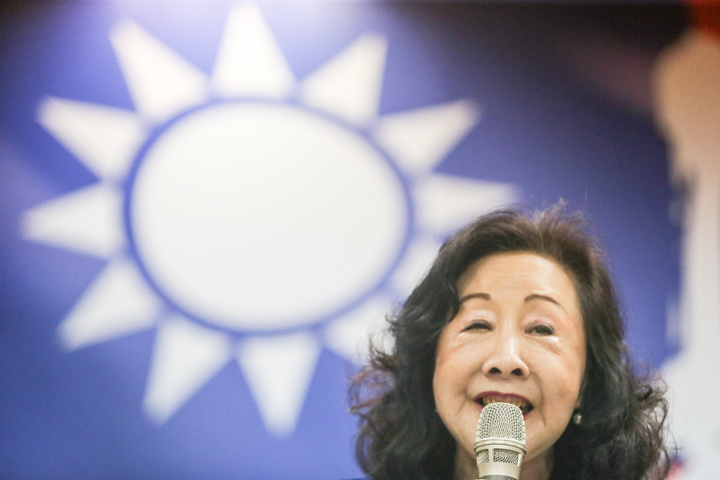 前台中市長胡志強夫人邵曉鈴出席郝龍斌後援會。記者黃仲裕/攝影
