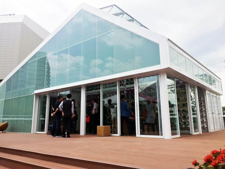 台積電交大能源教育館,以小型綠能屋為概念,客廳、廚房、臥室、衛浴通通有。記者郭宣&#24419/攝影