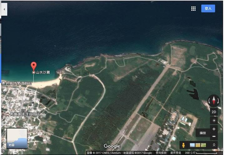 網友自Google Earth上擷取模擬漢光33號實兵操演防守方的空照圖。圖/翻攝自臉書