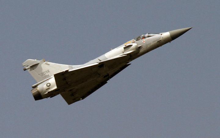 幻象戰機的三角翼是20年前是台灣領空的特殊景觀。報系資料照