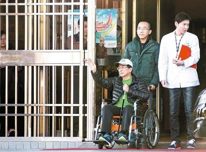 前總統陳水扁(左一)申請參加今晚凱達格蘭基金會舉辦的感恩餐會。本報資料照