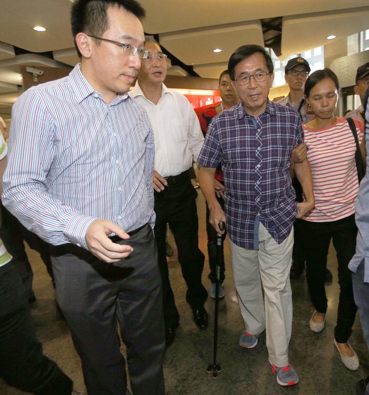 前總統陳水扁(右)。本報資料照片/記者劉學聖攝影
