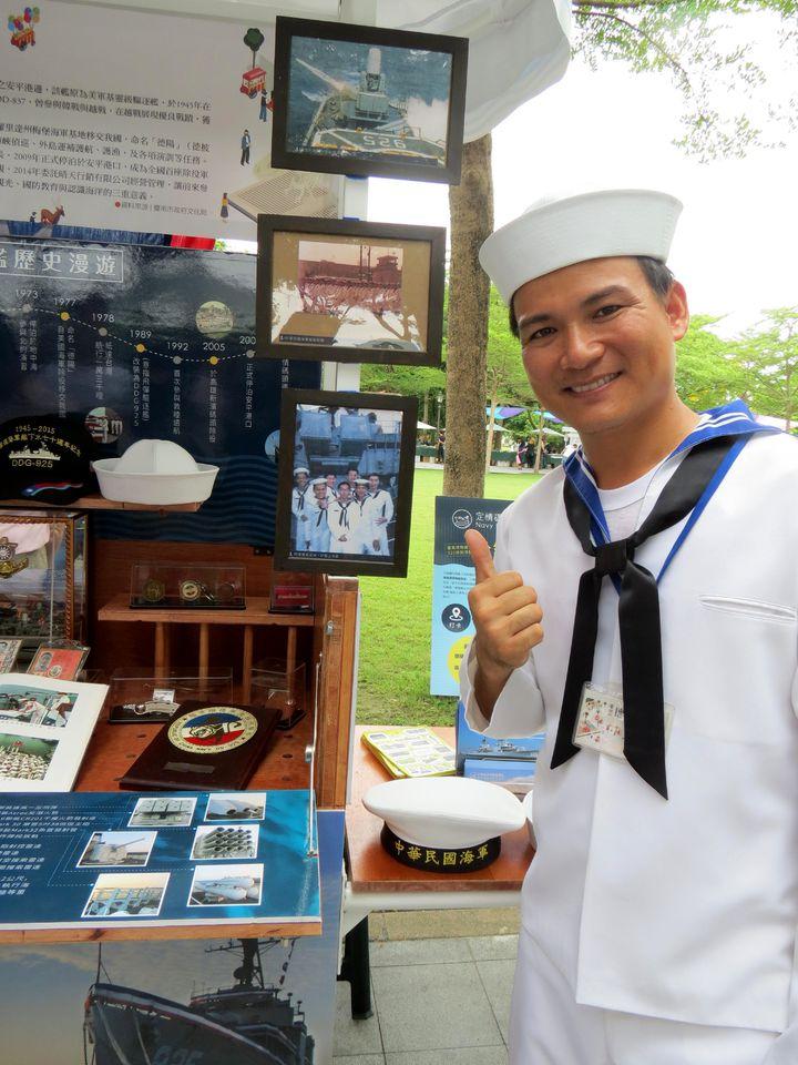 德陽艦在台南安平的文化園區有該艦退役老兵導覽解說。記者周宗禎/攝影