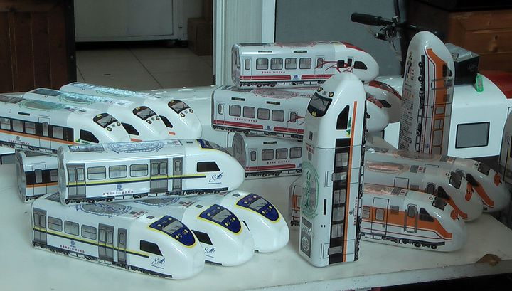 火車造型水外型設計有普悠瑪號、太魯閣號、自強號、微笑號等四款車型。記者徐如宜/攝影