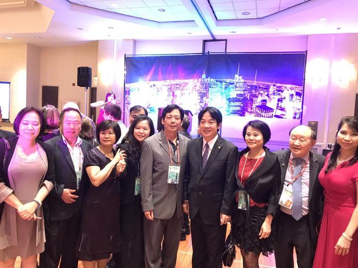 台南市長賴清德(中)應邀到美國紐約北美洲台灣商會聯合總會演講,強調他的親中愛台論述。圖/台南市政府提供