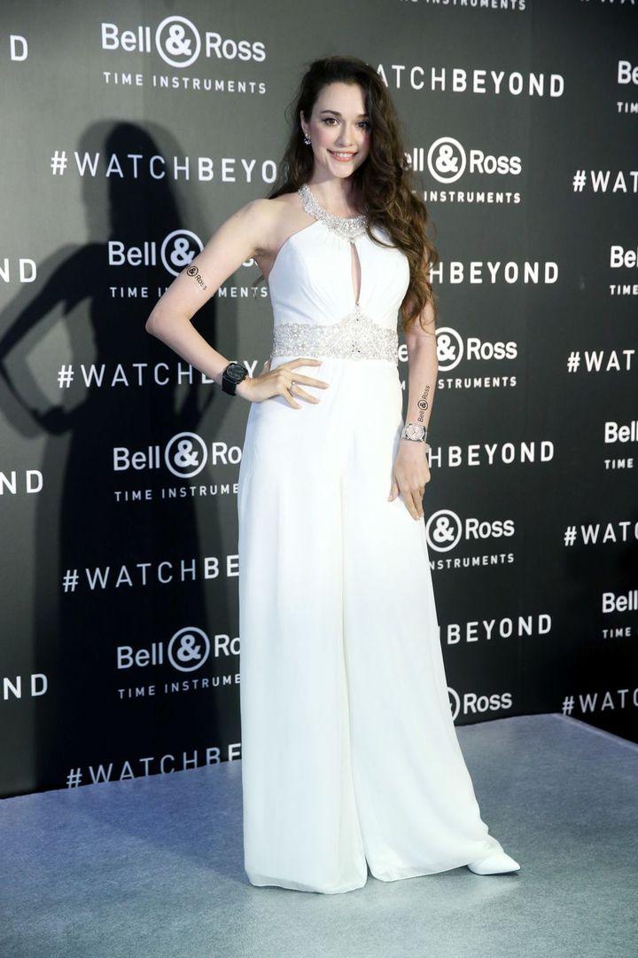 瑞莎出席手錶品牌活動。記者邱德祥/攝影