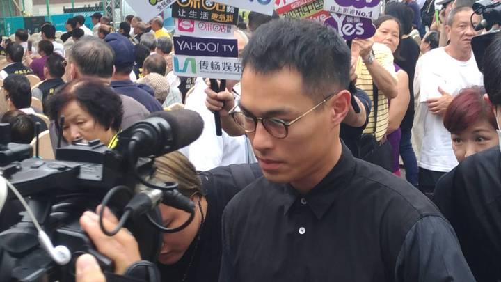 楊祐寧在豬哥亮告別式當天出席弔唁。記者陳建嘉攝