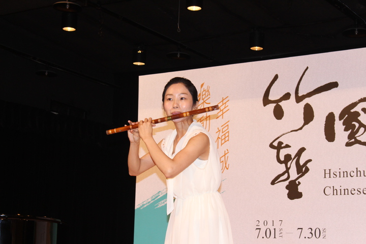 台北市立國樂團笛聲部首席演奏家賴苡鈞。記者張雅婷/攝影