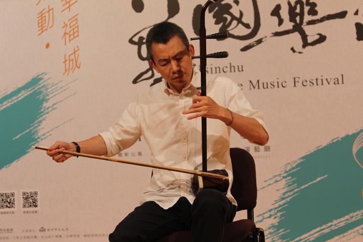 台北市立國樂團首席二胡演奏家王銘裕。記者張雅婷/攝影