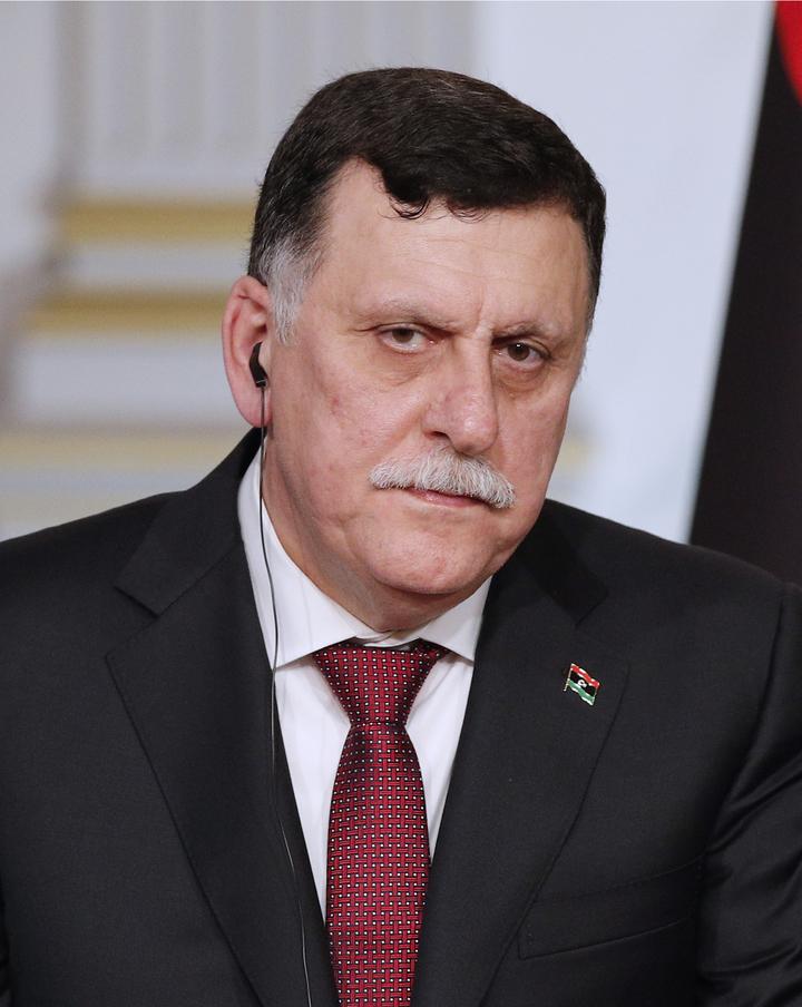 利比亞團結政府領導人薩拉吉。美聯社