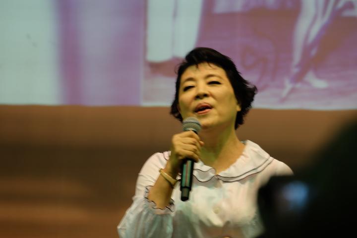 聲樂家簡文秀今年首度獲邀回到羅東家鄉開唱。記者張芮瑜/攝影