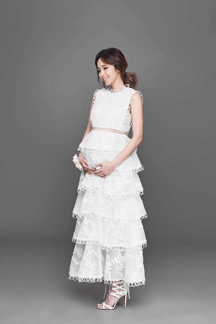 侯佩岑懷胎7月,將為兒子添弟弟。圖/福隆經紀提供