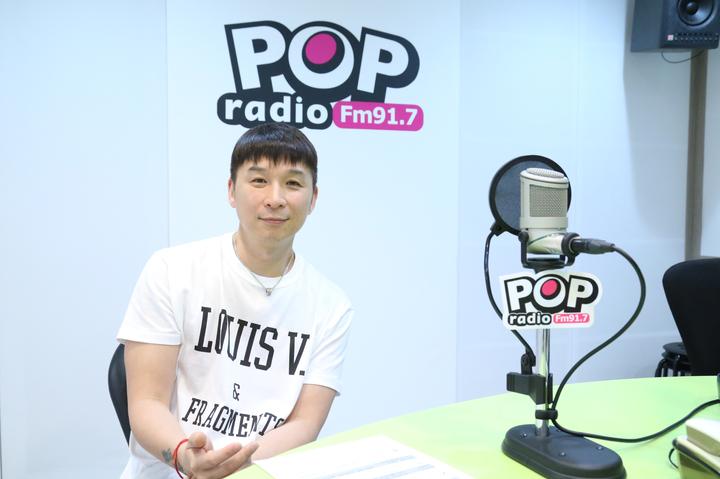 陳鎮川上電台接受訪問,爆了不少天后的秘密。圖/POP Radio 提供