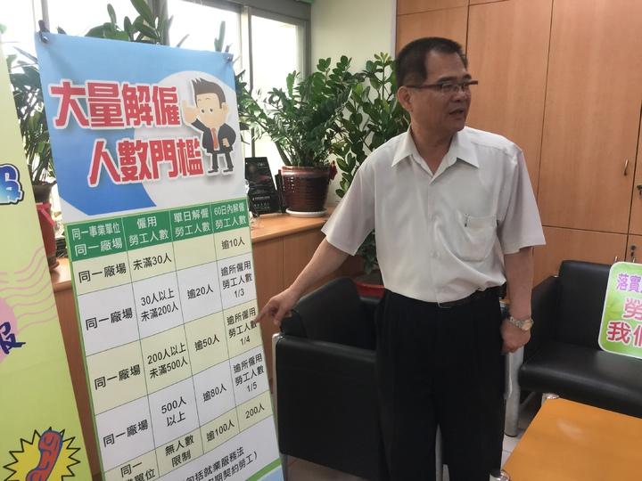 台南市勞工局長王鑫基。記者吳政修/攝影