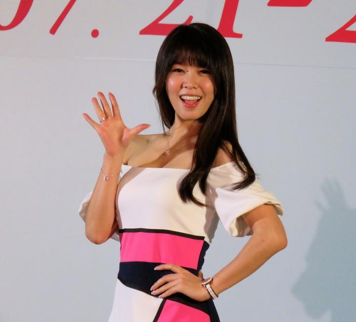 台灣美食展代言人白家綺。記者雷光涵/攝影