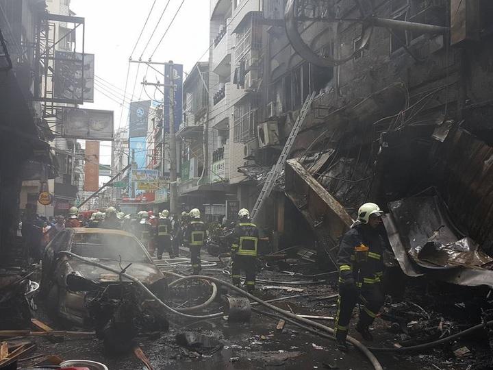 台中市逢甲商圈今天中午發生氣爆,爆炸後現場宛如一片廢墟。照片/摘自臉書