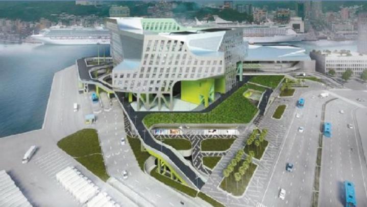 曾拿下美國進步建築獎的基隆港新海港大樓設計案,只有紙上光榮。圖/本報資料照片