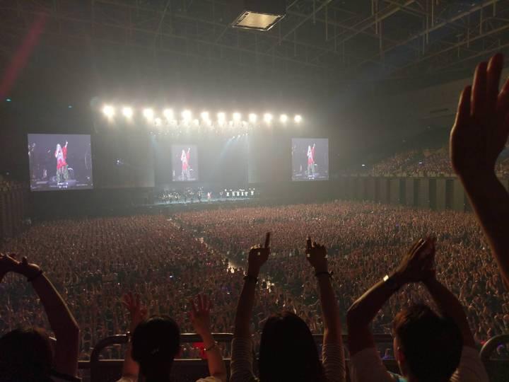 阿妹演唱會氣氛熱鬧 ,全場都很hi。記者謝梅芬/攝影