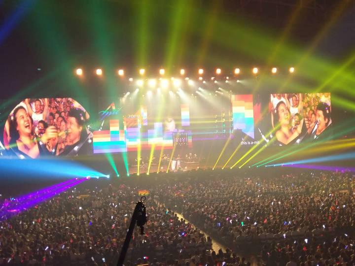 張惠妹「烏托邦世界巡城演唱會」「烏托邦2.0慶典」,12日晚間在高雄巨蛋登場。記者謝梅芬/攝影
