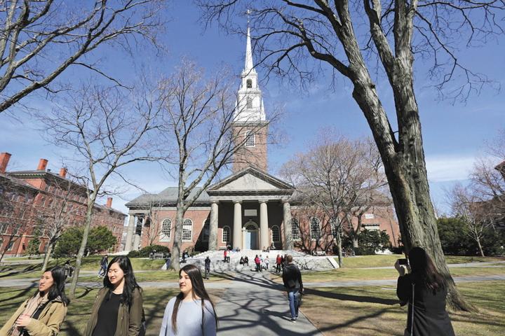 美國哈佛大學在多項大學排名常名列前茅。圖/美聯社