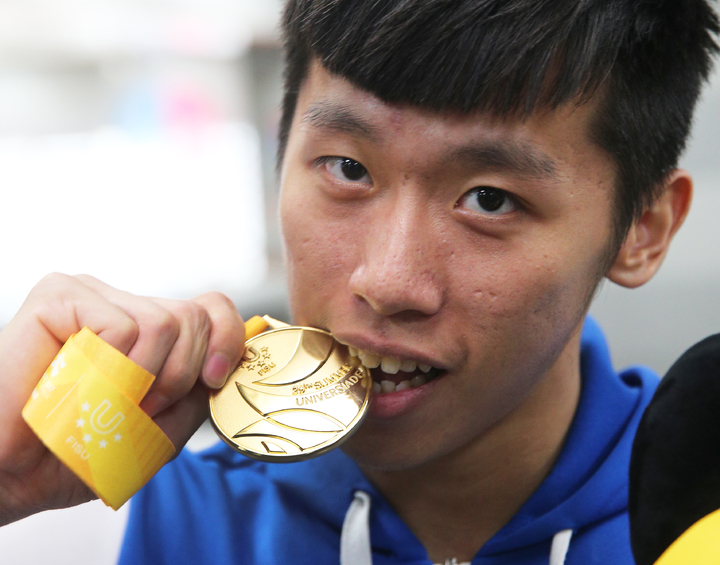 世大運為我國奪下鞍馬首金,李智凱目標2020東京奧運。記者陳正興/攝影