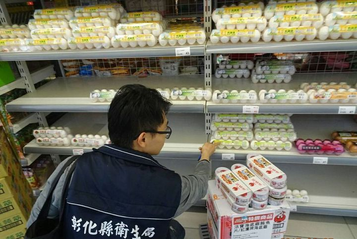 芬普尼蛋流向全聯遭下架後,恐影響消費信心,蛋價蠢蠢欲動。圖/彰化衛生局提供