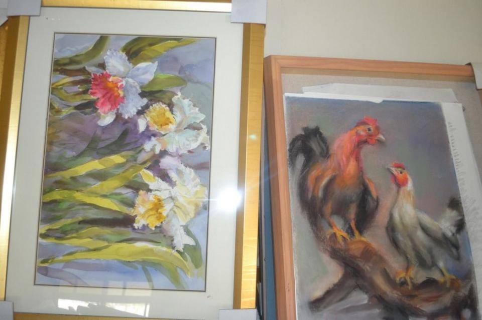 沈健一每天最大的享受就是畫畫與賞畫,一直有作品呈現。記者鄭惠仁/攝影