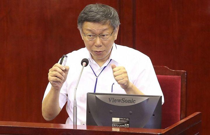 台北市長柯文哲。記者黃威彬/攝影