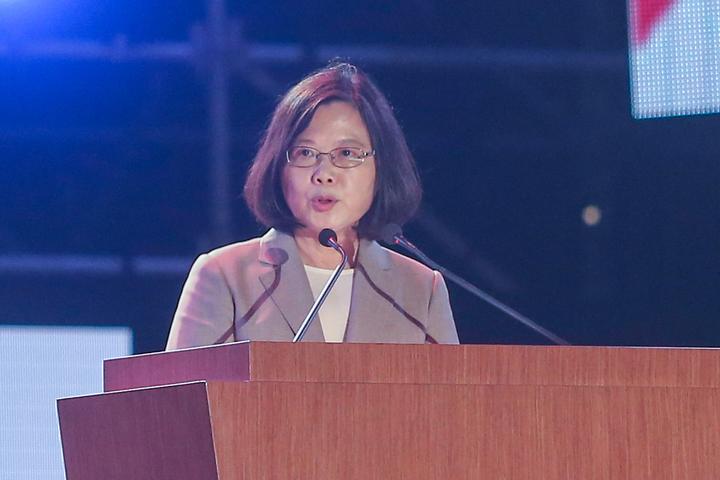 蔡英文總統表示,台灣人一天比一天更有自信。記者黃仲裕/攝影