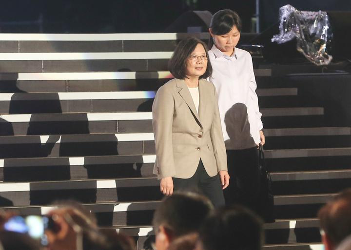 蔡英文總統表示,推動年金改革與司法改革都一定的進展,為台灣打造更合理、更符合公平正義的制度。記者黃仲裕/攝影