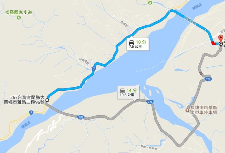 連日豪雨導致全運會自由車公路賽受影響,原訂上太平山的路程,考量選手安全更改路線,全程改為繞圈方式進行,不上太平山。圖擷取自google map。記者張芮瑜/翻攝