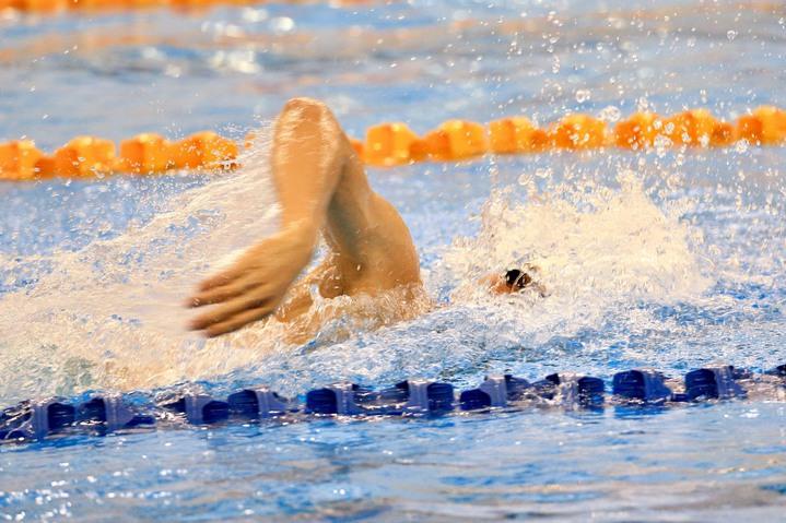 安廷耀在200公尺混合是游出全國新紀錄。  記者林伯東/攝影(資料照)
