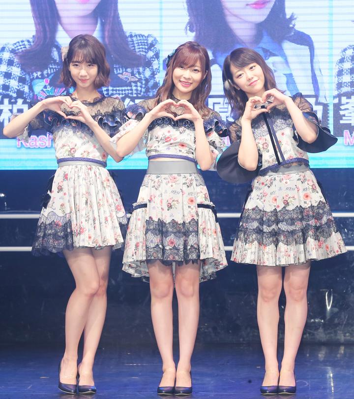 3人晚上舉行「AKB48 Group Fan Meeting in TAIWAN」見面握手會。記者徐兆玄/攝影