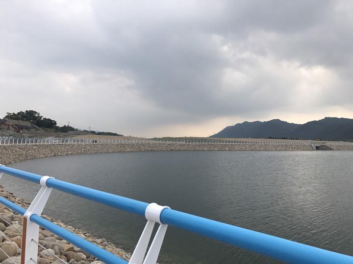 中庄調整池有效蓄容量505萬噸可備援板新淨水場7天供水。圖/北區水資源局提供