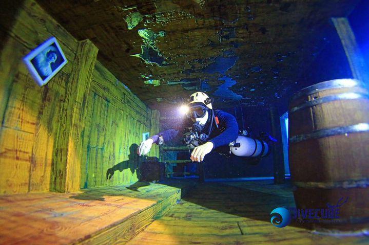 波力集團砸下2億元重金,在台中打造全台首座潛水主題旅館波力潛立方旅館。圖/波力集團提供