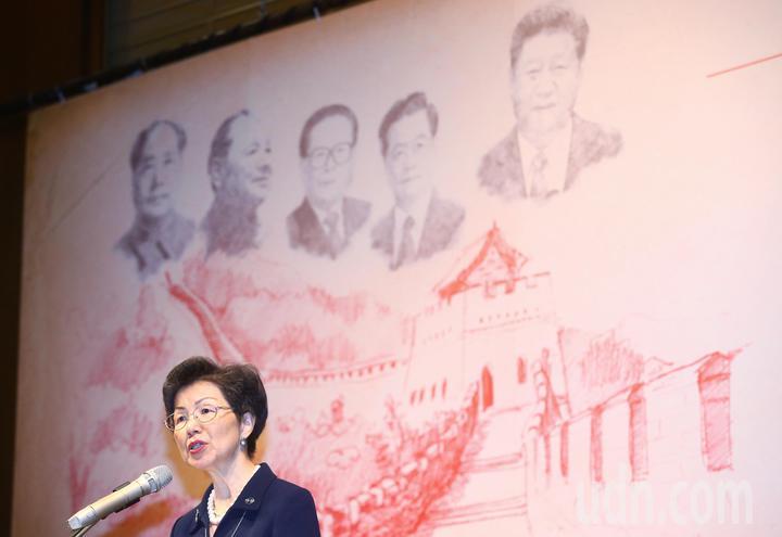陸委會主辦「中共『十九大』之權力格局與政策前膽國際研討會」,主委張小月今早到場致詞。記者程宜華/攝影