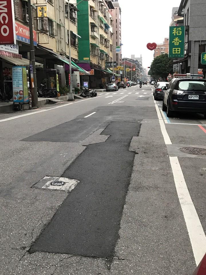 基隆市路不平,是民怨之一。記者吳淑君/攝影