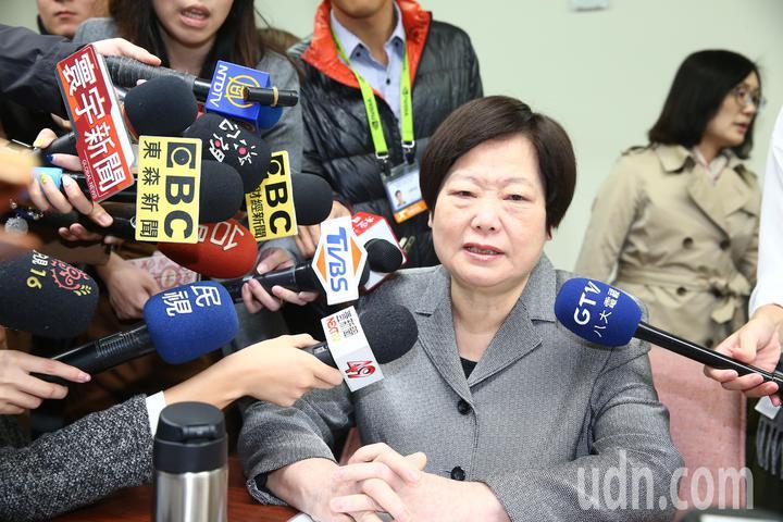 勞動部長林美珠婉拒媒體採訪。記者程宜華/攝影