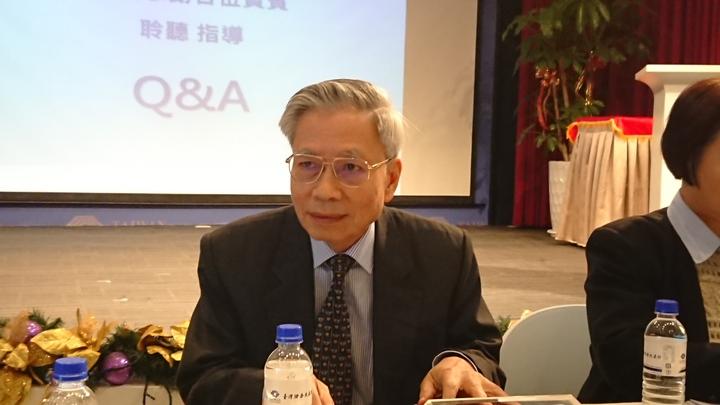 中工今日法說會,董事長沈華養親自出席。 記者陳美玲/攝影