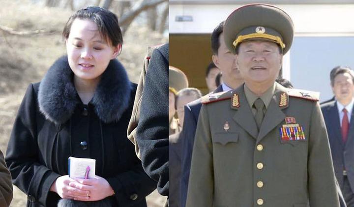 北韓組大團挺平昌冬奧,韓媒推測可能的團長人選,一為勞動黨副委員長崔龍海(圖右),也有可能是近來地位扶搖直上的金正恩胞妹金與正(圖左)。美聯/路透