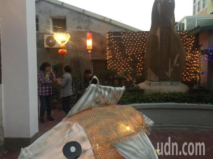 鹽水區八角樓的竹燈啓燈。記者吳政修/攝影