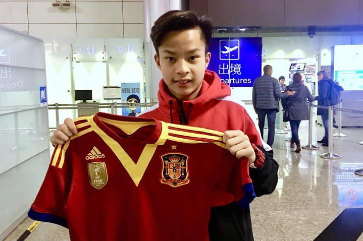 袁永誠15歲前往馬德里追逐足球夢。袁慶國提供