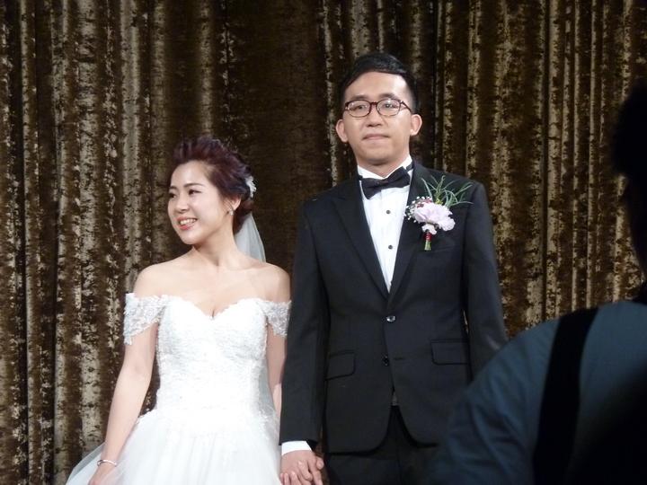前總統馬英九卸任元首辦公室發言人「松山鄧麗君」徐巧芯,今天與網路溫度計總監劉彥澧結婚。記者周志豪/攝影