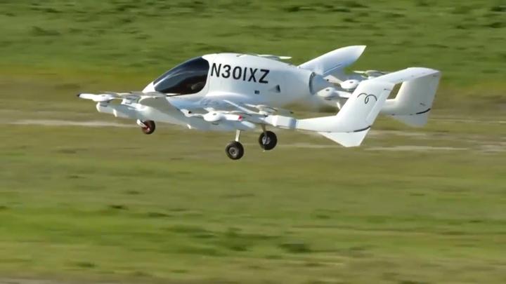 谷歌共同創辦人佩吉投資的空中計程車公司「Kitty Hawk」,13日公布「Cora」試飛影片,期望2021年就能正式營運。路透