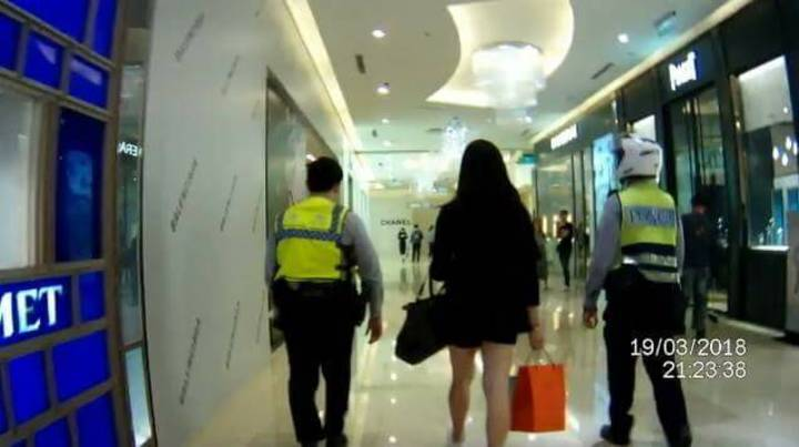 台中市第六警分局獲報,台北市張姓男子男扮女裝,化身爆乳妹,在網路邀約男性外出,趁機竊取財物。記者陳宏睿/翻攝
