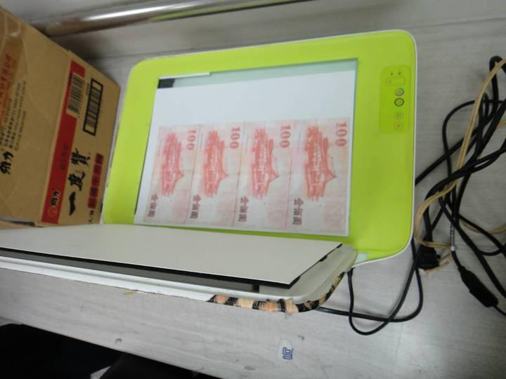 台中市黃姓男子涉嫌在北區的住處用印表機印製偽鈔,6日被警方循線查獲。記者陳宏睿/翻攝